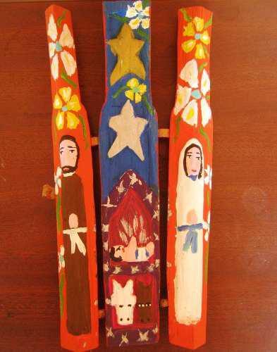 Nacimientos Artesanales- Tripticos Tallados En Madera