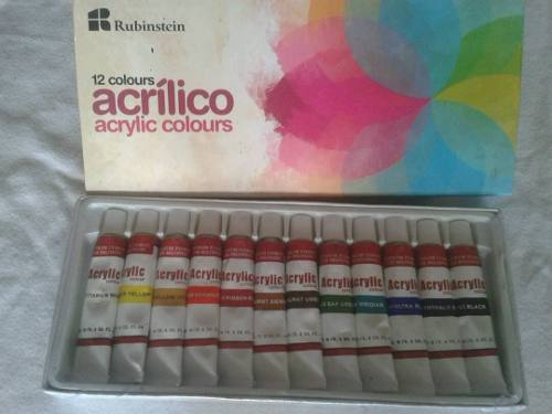 Pinturas, Acrílicos Rubinstein 12 Colores