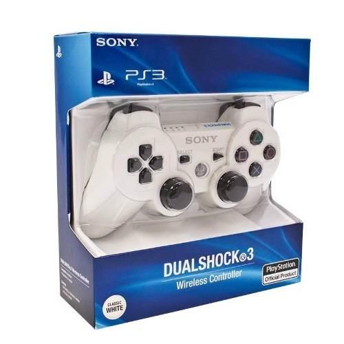 Control Ps3 Original Playstation 3 Inalámbrico Color Blanco