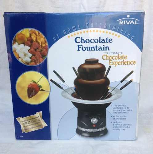 Fuente De Chocolate De 3 Niveles Como Nueva. Marca Rival