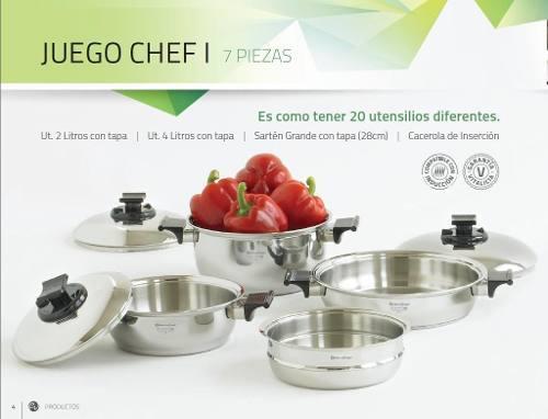 Juego De Ollas Rena Ware Chef I