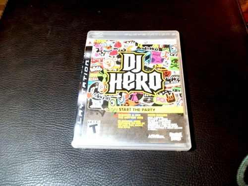 Juego Fisico Dj Hero Para Playstation 3 Garantia