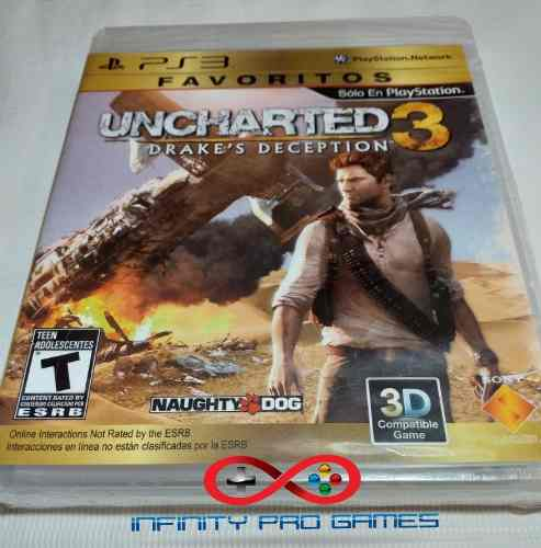 Juego Fisico Uncharted 3 Original Nuevo Sellado Garantia