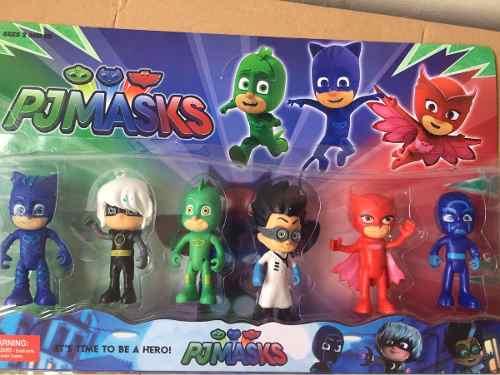 Juguete Pj Mask Set De 6 Muñecos Héroes En Pijamas Niños