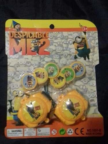 Kit De 2 Pzas Relojes Lanza Discos De Los Minios