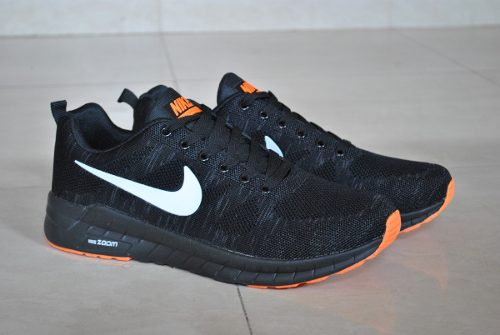 Kp3 Zapatos Nike Air Zoom Negro Naranja Blanco Caballeros