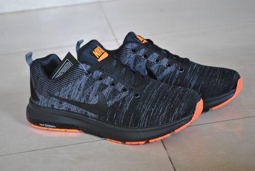 Kp3 Zapatos Nike Air Zoom Negro Naranja Para Caballeros