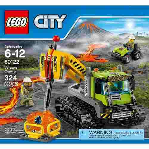 Lego City  Volcán, Robot De Búsqueda 324 Pzs