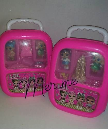 Maleta Lol Surprise Dos Muñecas Lol + Accesorios Juguetes