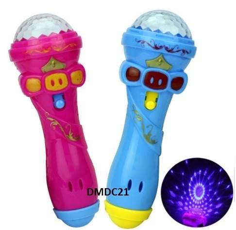 Micrófono Infantil Luces De Fiesta Para Niños Rosado Y