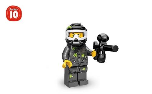 Minifigura De Lego Paintball Guy Serie 10