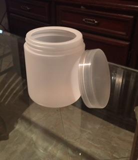 Pote Envase Plástico Con Tapa De Rosca 500cc