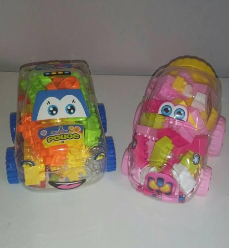 Set De Carritos De Legos Para Niño Y Niña