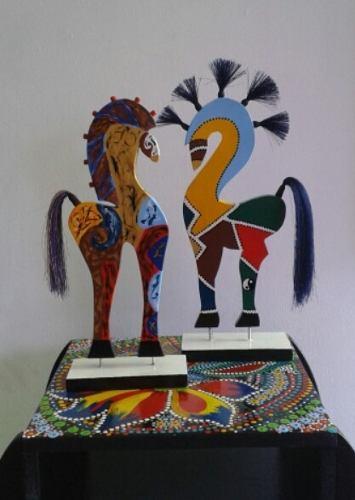 Caballo De Madera Decorativo