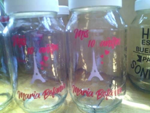Calcomanias 400bs Para Decorar Frascos Personalizada Vasos
