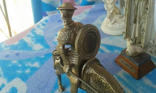 Escultura Don Quijote, Su Caballo Rocinante, Lanza Y Escudo
