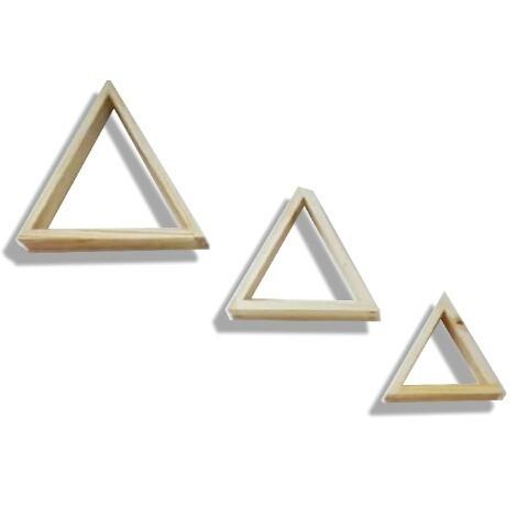 Juego De Repisas Flotantes Triángulo De Pino Fabricantes