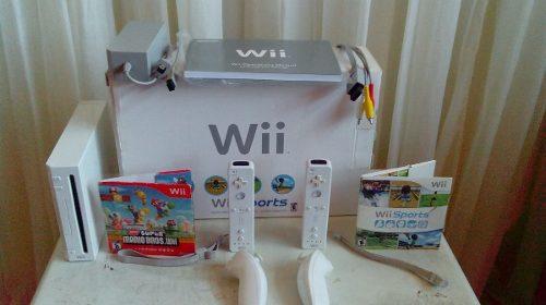 Nintendo Wii Sport Original + Accesorios +cargador Controles