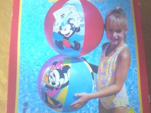 Pelota De Playa, Piscina. Disney Minnie Y Mickey Mouse