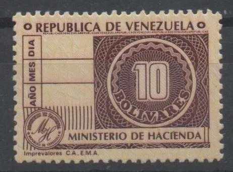 Timbre Fiscal De 10 Bolivares Coleccionable