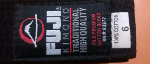 Cinturon Negro Karate /judo 320cm Talla 6 Importado Fuji