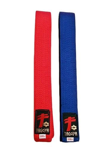 Cinturones De Karate Artes Marciales Kumite Azul Y Rojo