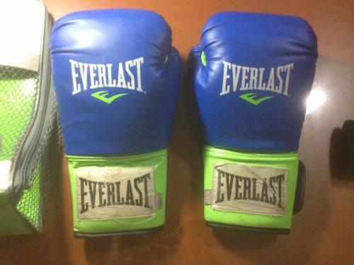 Guantes De Boxeo Everlast 14oz + Vendas De Boxeo De 2mts
