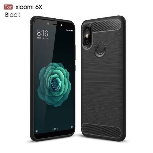 Forro Estuche Xiaomi Mi A2 / 6x Carbon Fiber Cepillado