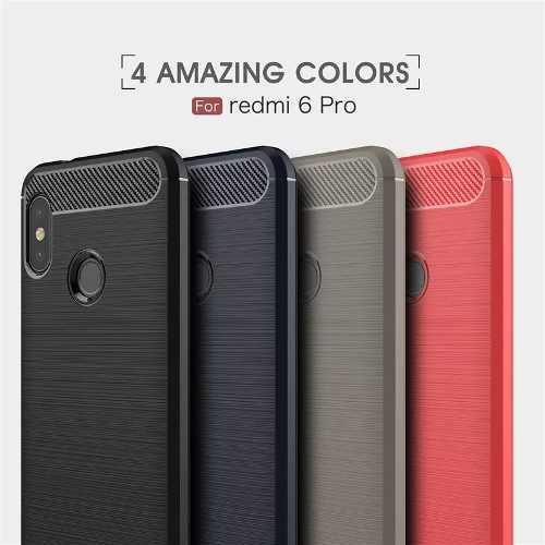 Forro Estuche Xiaomi Mi A2 Lite Carbon Fiber Cepillado