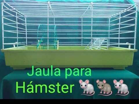 Jaula Grande Para Roedores Con Bandeja Plástica Color Verde