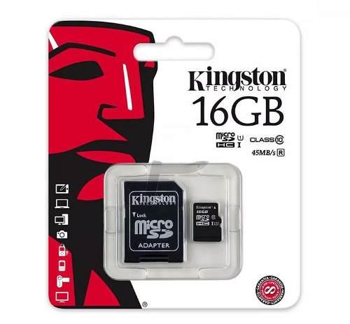 Memoria Micro Sd 16gb Clase 10 - Kingston