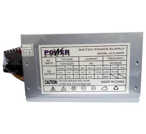 Fuente De Poder Pc Atx 600w  Pines Con Conector Sata