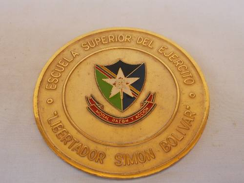 Medalla Escuela Superior Del Ejercito Lib. Simón Bolívar