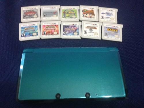 Nintendo Ds 3d Con 10 Juegos Originales Cambio Por Iphone