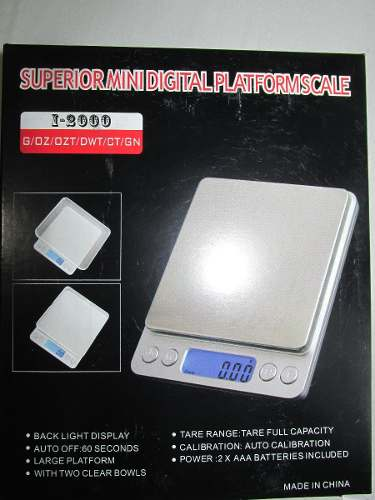 Peso Balanza Digital Gramera Alta Precisión