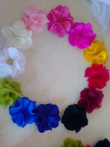 Flores Pompones 3d De Tela Para Decorar Ropa Cintillos Cajas