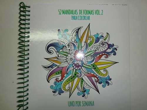 Mandalas 52 Mandalas De Formas Para Colorear Uno Por Semana
