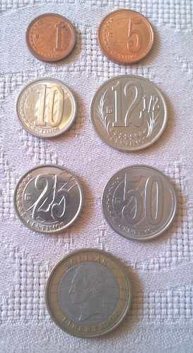 [1] Lote De Monedas Bolívares Fuertes Emisión