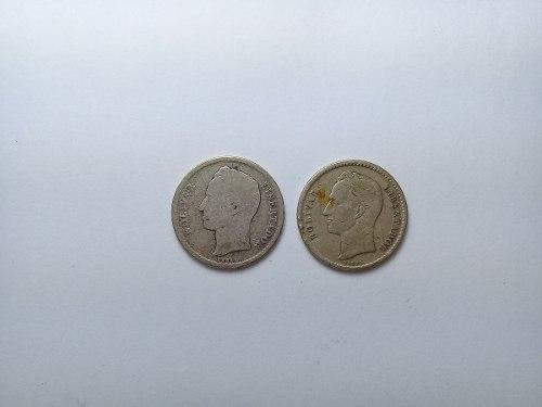 2 Monedas Antiguas Venezolanas, Año