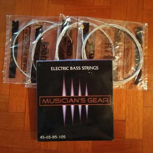 2 Sets De 4 Cuerdas De Bajo Electrico Por El Precio De 1