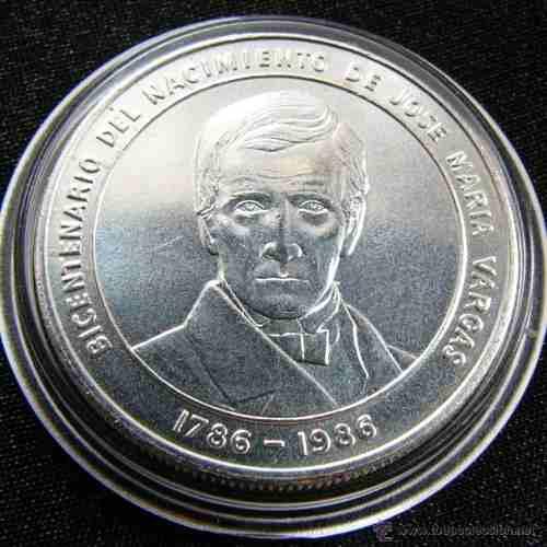 Bicentenario Dr. José María Vargas Lote De 5 Monedas Plata
