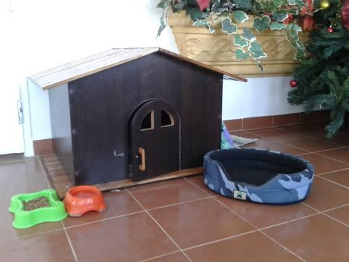 Casa De Madera Para Perro Raza Pequeña