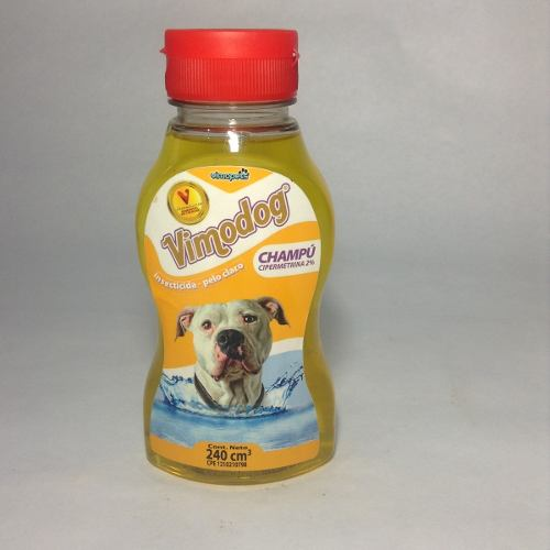 Champú Insecticida Vimodog 240ml Higiene Perros Gatos