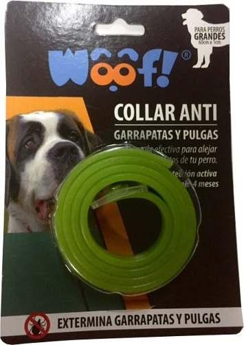 Collares Antipulgas Y Garrapatas Woof Perros Grande