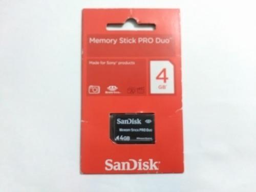 Memoria Para Camara Memory Stick Pro Duo 4gb Sandisk (nueva)