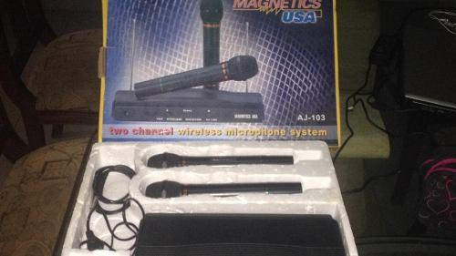 Microfono Inhalambrico Marca Magnetics Usa Modelo Aj-