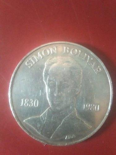 Moneda De Plata 100 Bs. Simon Bolivar