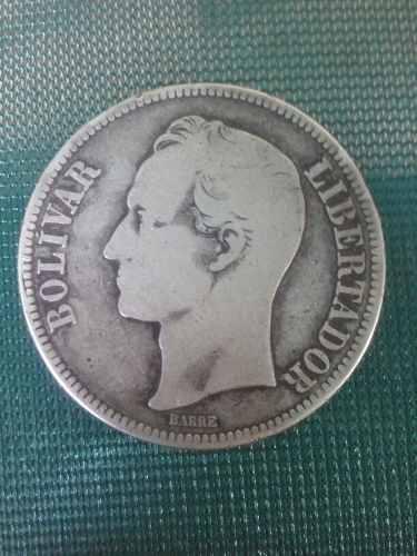 Moneda De Plata De 5 Bs, 25 Gramos Lei 900