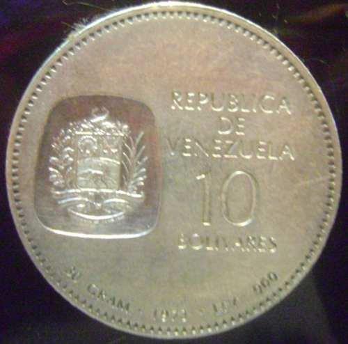 Moneda Doblon De 10 Bs De Plata