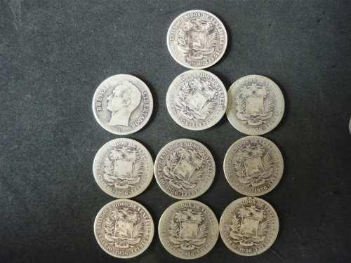 Monedas De 2 Bolívares De Plata Venezolanas